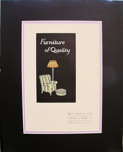 1920s Vintage Mini Poster, Furniture of Quality