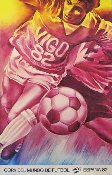 1982 Soccer World Cup Poster - Jacques Monory