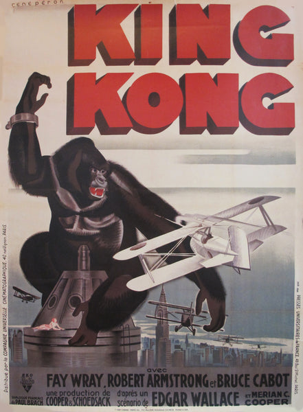 1989 Original Movie Poster, King Kong Reissue