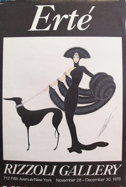 1978 Erte Exhibition Poster, Rizzoli Gallery