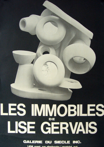 1964 Montreal Contemporary Poster, Galerie Du Siecle Exhibition - Gervais (after)