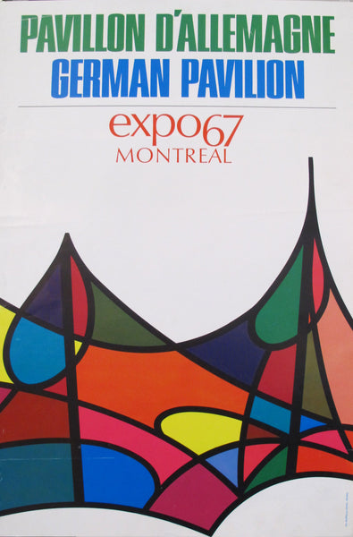 1967 Vintage Montreal Poster - Expo 67 - German Pavilion