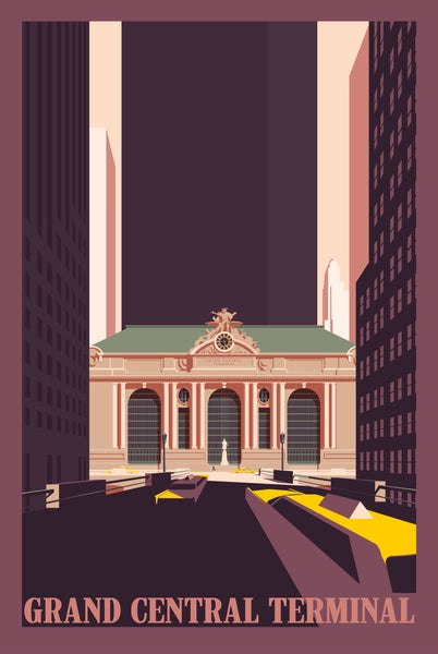 2019 Contemporary Travel Poster - Pascal Blanchet - Grand Central Terminal
