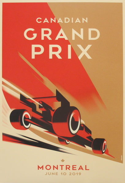 2019 Contemporary Mads Berg Sports Poster - Canadian Grand Prix, Montreal