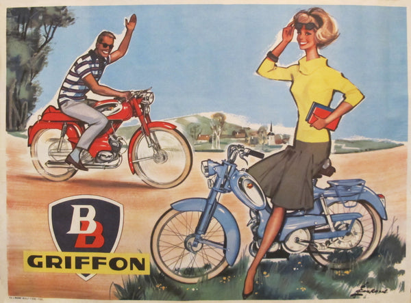 1950s Vintage French BB Griffon Poster