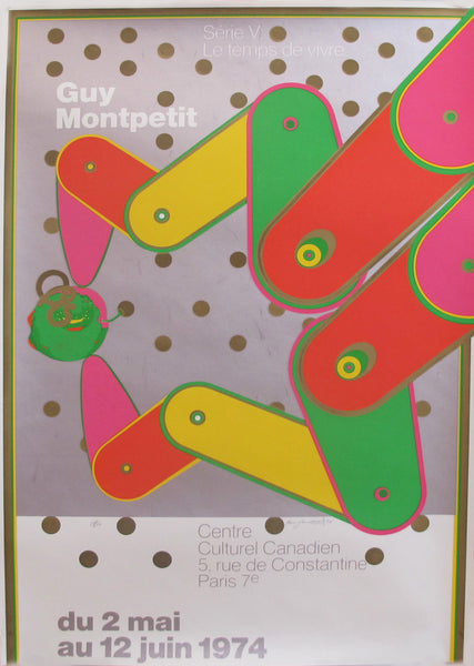 1974 Orignial Vintage poster for the Centre culturel Canadien by Guy Montpetit