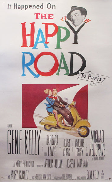 1957 Original American Movie Poster, The Happy Road