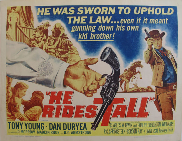 "1964 Original American Movie Poster - ""He rides tall"" with Tony Young & Dan Duryea"
