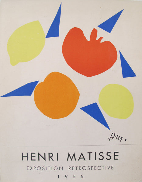 1956 Original Matisse Small French Exhibition Poster, Exposition Retrospective