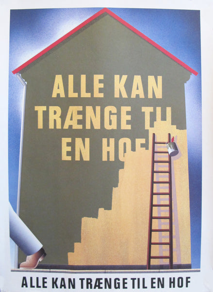 1980s Danish Carlsberg Beer Poster, House Painting (small)