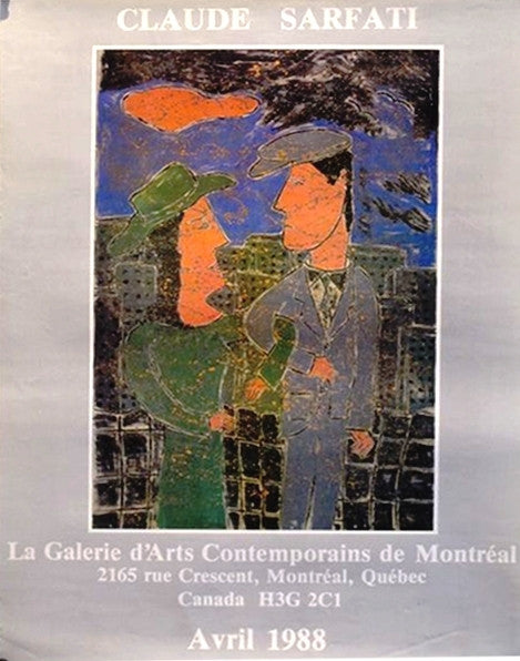 1988 Montreal Contemporary Poster, Sarfati Exhibition - Sarfati