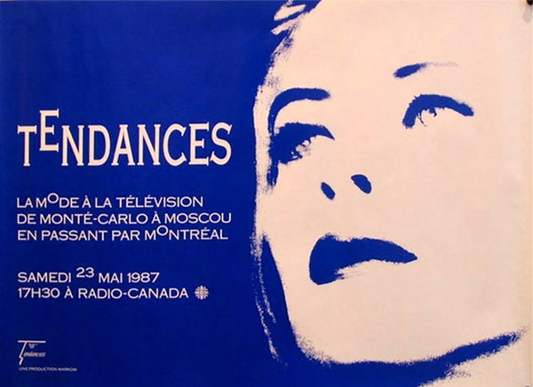 1987 Montreal Fashion Exhibition Poster, Tendances