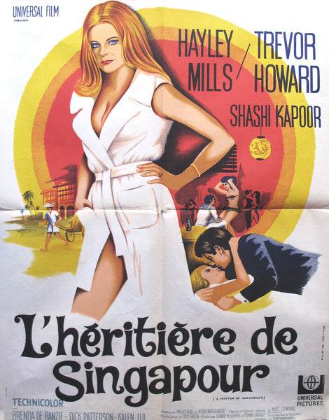 1967 Original French Film Poster, L'heritiere De Singapour, A Matter of Innocence