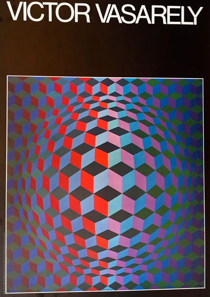 1986 Original Italian Vasarely Exhibition Poster - Vasarely (after)