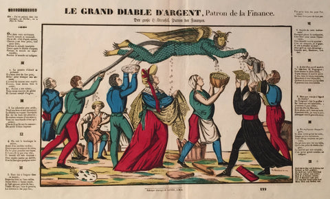 1854 Original French Poster - Le Grand Diable D'Argent - Gangel