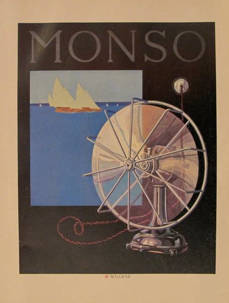 1923 Austrian Art Deco Poster, Monso #2 - Willrab