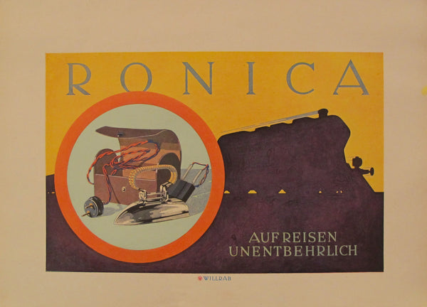 1923 Austrian Art Deco Poster, Ronica - Willrab