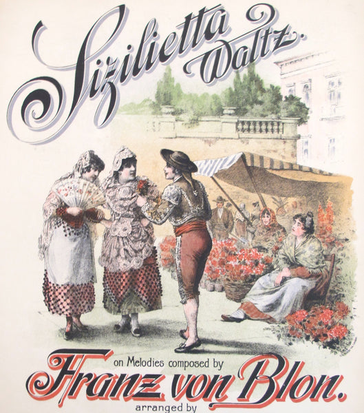 1910s English Music Sheet, Sizilietta Waltz - Anonymous