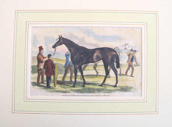 "1860s Original Equine Print from -  ""The Illustrated London News"", #1"