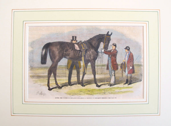 1860 Original Equine Print from The Illustrated London News, #2