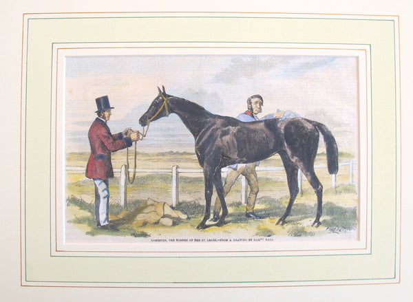 "1860's Original Equine Print from - ""The Illustrated London News"", #3"