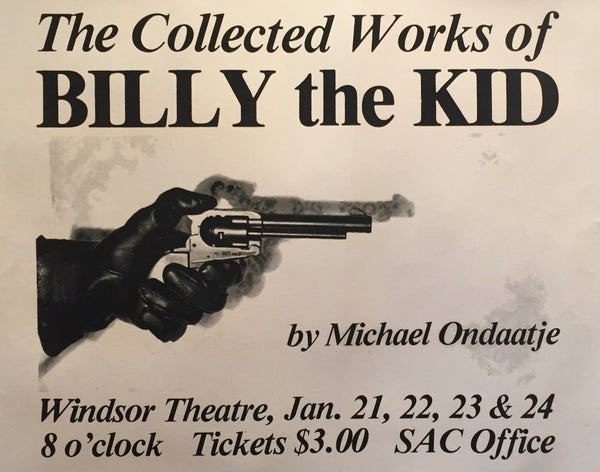 1970s Contemporary Canadian Theater Poster, Billy the Kid - Anonymous