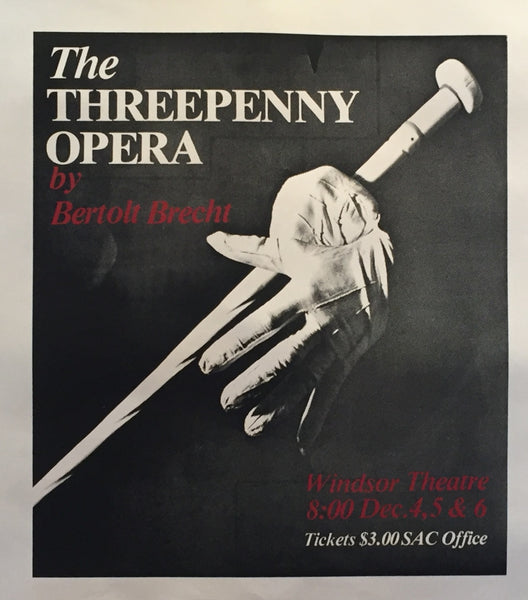 1970s Contemporary Canadian Theater Poster, Threepenny Opera - Anonymous