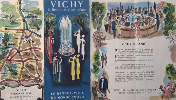 1940s French Travel Brochure for Vichy (France) - Baille