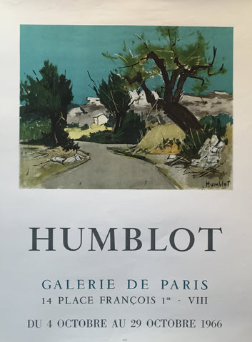 1966 Original French Exhibition Poster - Humblot, Robert