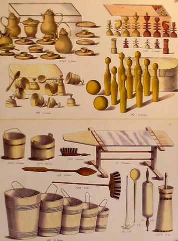 1870s Original Planche(s), Toy + Dollhouse Designs, S/2 - Unknown