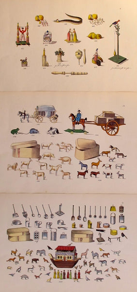 1870s Original Planche(s), Toy + Dollhouse Designs, S/3 - Unknown