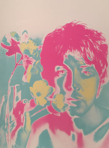 1967 Original Beatles Psychedelic Poster, Paul McCartney