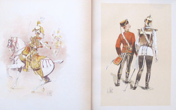 1893 French Cavalry Lithographs, Firmin Didot - Vallet (Set #13)