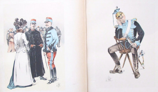1893 French Cavalry Lithographs, Firmin Didot - Vallet (Set #28)
