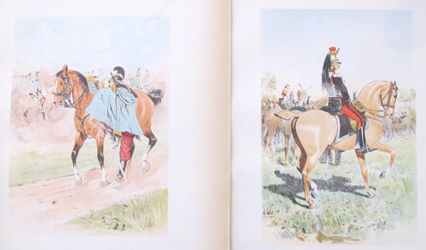 1893 French Cavalry Lithographs, Firmin Didot - Vallet (Set #30)