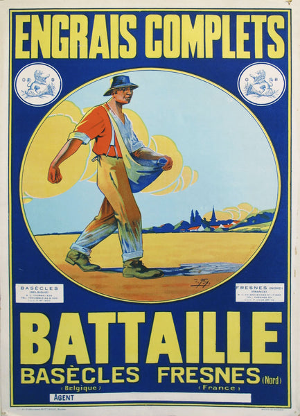 1940s Original French Advertisement - Battaille Fertilizer