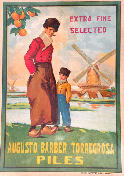 1930-40 Original Vintage Spanish Label, Augusto Barber