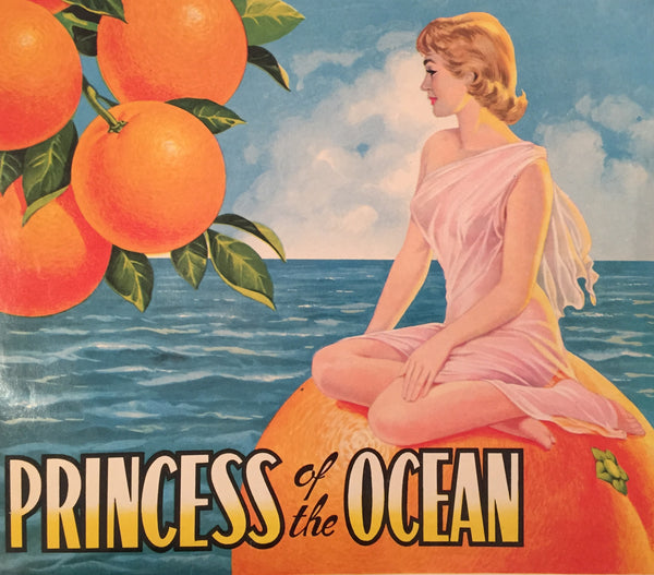 1930-40 Original Vintage Spanish Label, Princess of the Ocean