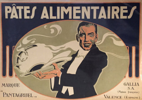 1930-40 Original Vintage French Label, Pates Alimentaire, Pasta