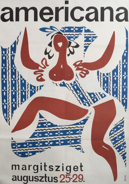 1965 Original Hungarian Poster, Americana Dancer