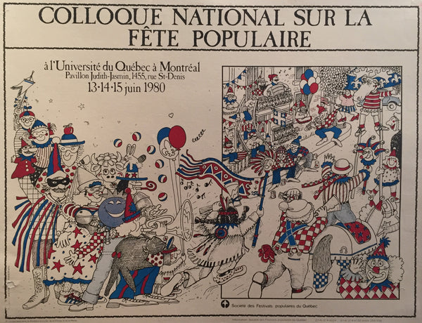 1980 Original Quebec Contemporary Poster, Colloque National