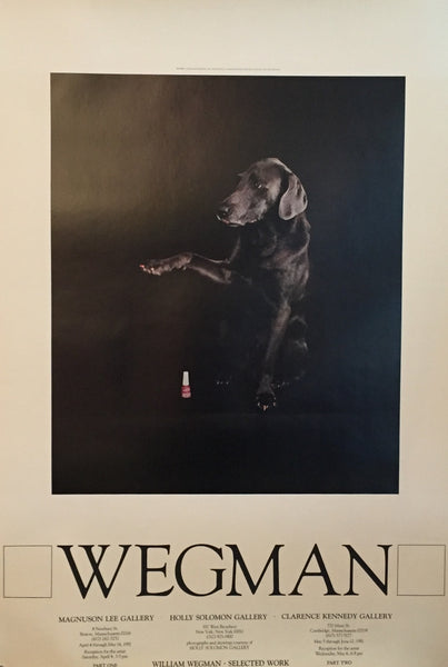 1981 William Wegman Exhibition Poster, Selected Works