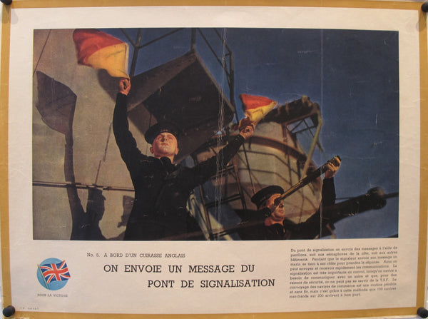 1940-1945 Original French WWII Poster, Victoire / On Envoie un Message