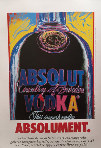 1994 Original Andy Warhol Poster, Absolut Vodka