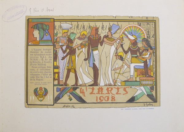 1908 Original 4'ZArt Party Invitation - Anonymous