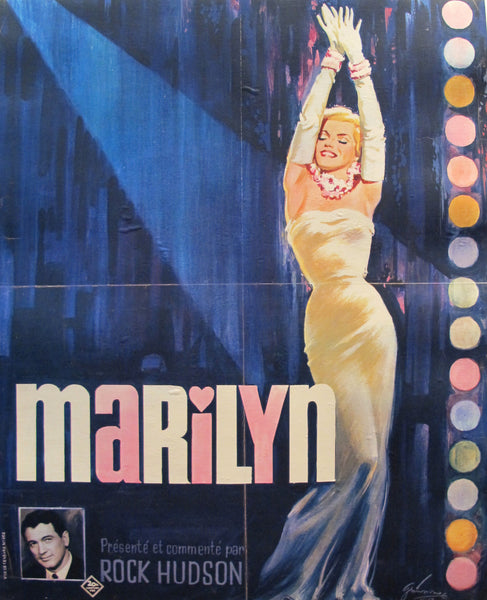 1963 French Marilyn Monroe Documentary Poster - Boris Grinsson