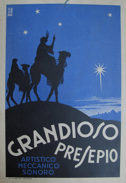1917 Original Italian Advertising Carton - Grandioso Presepio