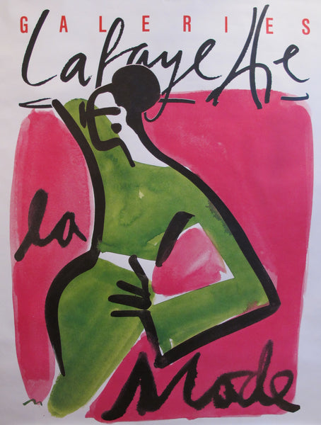 1990 Original French Fashion Poster Galeries Lafayette