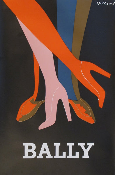 1970s Vintage French Poster, Bally Shoes