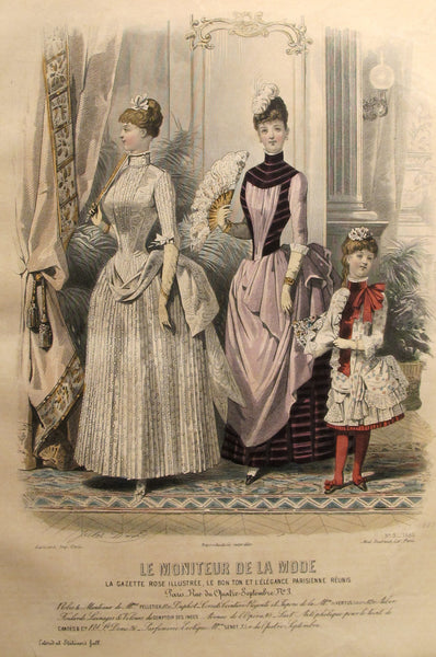 1886 Moniteur de la Mode, Parisian Ladies Fashion (Plate 3-1886)